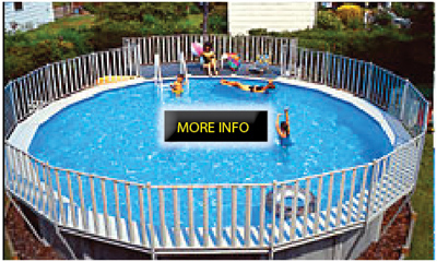 Ordini pools round pools for Above ground pool decks nj